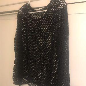 Forever 21 Plus sheer mesh sweater top